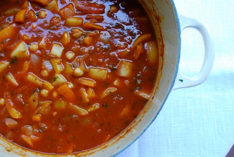 chickpea stew, vegan stew, vegan chickpea stew, vgourmet, Ruth Richardson, picada, romesco