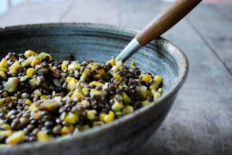 vgourmet, Ruth Richardson, vegan lentil salad