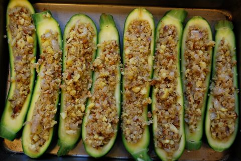 vgourmet, Ruth Richardson, vegan zucchini boats