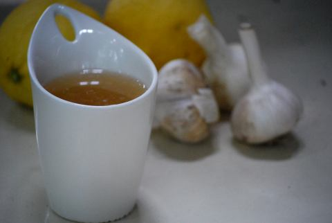 vgourmet, Ruth Richardson, garlic ginger tea