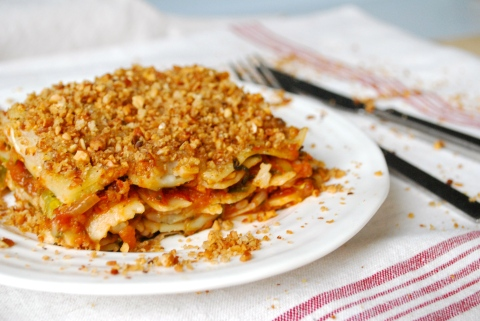 vegan lasagne, spinach lasagne, vgourmet, Ruth Richardson, vegan Italian food