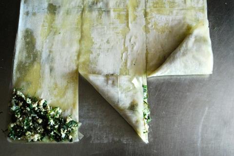 vegan spanikopita, spinach pie, vgourmet, ruth richardson