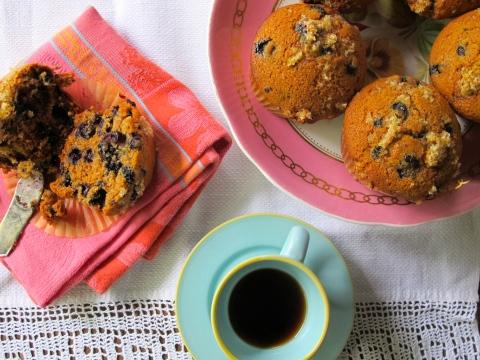 vegan blueberry muffins, babycakes, vgourmet
