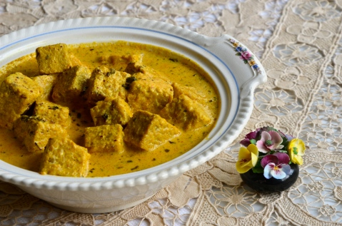 tempeh fenugreek curry cream