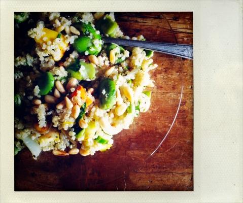 quinoa fava bean